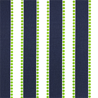 Lulu Blue Chartreuse Green Stripe Print Drapery Fabric by Premier Prints