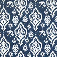 Raji Canal Slub Blue Ikat Print Drapery Fabic by Premier Prints