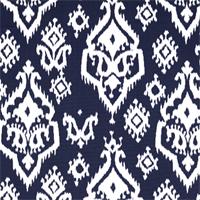 Raji Blue Ikat Print Drapery Fabic by Premier Prints