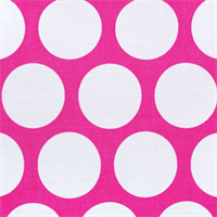 Dandie Candy Pink/White by Premier Prints - Drapery Fabric
