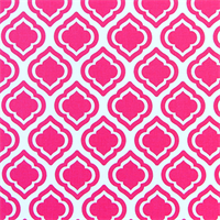 Curtis Candy Pink Moroccan Tile Drapery Fabric by Premier Prints