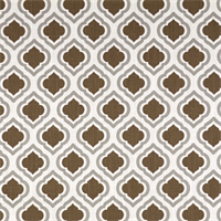 Curtis Italian Brown Drew Moroccan Tile Drapery Fabric by Premier Prints