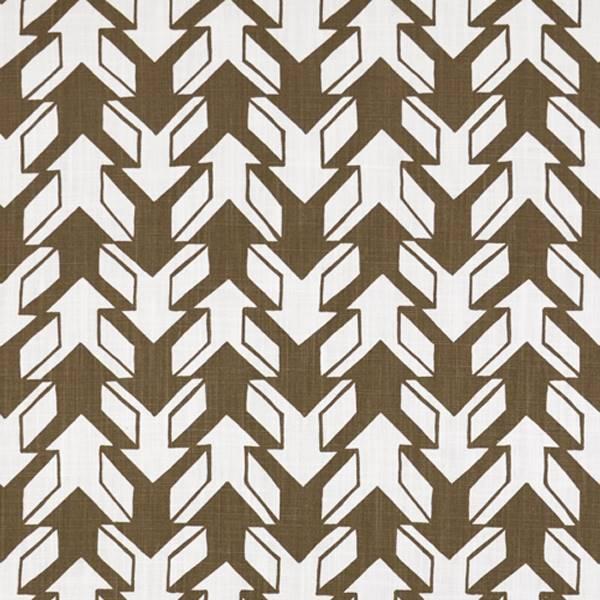 Nano italian brown drew contemporary print drapery fabric for Modern home decor fabric prints