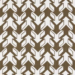 Nano Italian Brown Drew Contemporary Print Drapery Fabric by Premier Prints