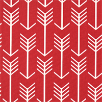Arrow Timberwolf Red Macon Printed Drapery Fabric by Premier Prints