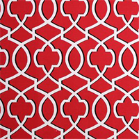 Morrow Carmine Red Contemporary Print Drapery Fabric by Premier Prints