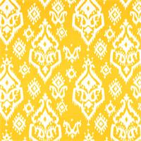 Raji Corn Yellow Slub Ikat Print Drapery Fabic by Premier Prints