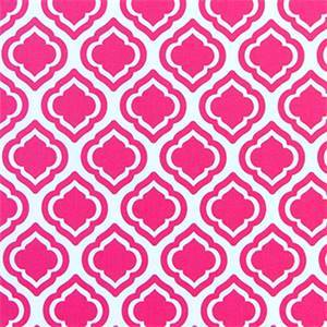Curtis Candy Pink Moroccan Tile Drapery Fabric by Premier Prints 30 Yard Bolt