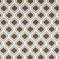 Curtis Italian Brown Drew Moroccan Tile Drapery Fabric by Premier Prints 30 Yard Bolt