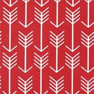 Arrow Timberwolf Red Macon Printed Drapery Fabric by Premier Prints 30 Yard Bolt