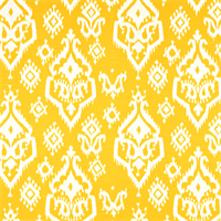 Raji Corn Yellow Slub Ikat Print Drapery Fabric by Premier Prints 30 Yard Bolt