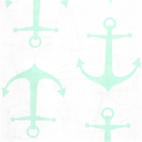 Anchors Mint Twill Printed Drapery Fabric by Premier Prints 30 Yard bolt