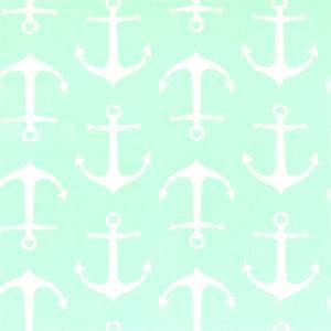 Sailor Mint Twill Anchor Print Drapery Fabric by Premier Prints 30 Yard Bolt