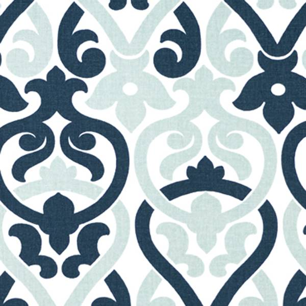 Alex Premier Navy Contemporary Print Drapery Fabric by Premier ...