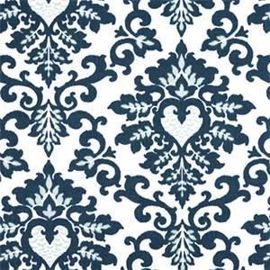 Cecilia Premier Navy Floral Print Drapery Fabric by Premier Prints 30 Yard Bolt