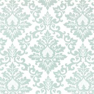 Cecilia Snowy Blue Floral Print Drapery Fabric by Premier Prints 30 Yard Bolt