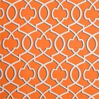 Morrow Apache Orange Macon Contemporary Print Drapery Fabric by Premier Prints 30 Yard Bolt