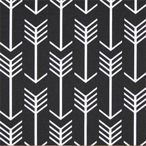Arrow Black Printed Drapery Fabric by Premier Prints 30 Yard Bolt