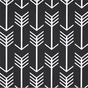 Arrow Black Printed Drapery Fabric by Premier Prints 30 Yard Bolt