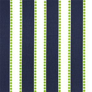 Lulu Blue Chartreuse Green Stripe Print Drapery Fabric by Premier Prints 30 Yard Bolt