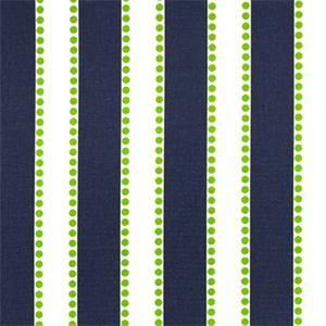 Lulu Blue Chartreuse Green Stripe Print Drapery Fabric by Premier Prints 30 Yard Bolt