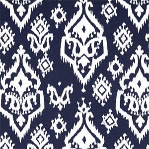 Raji Blue Ikat Print Drapery Fabic by Premier Prints 30 Yard Bolt