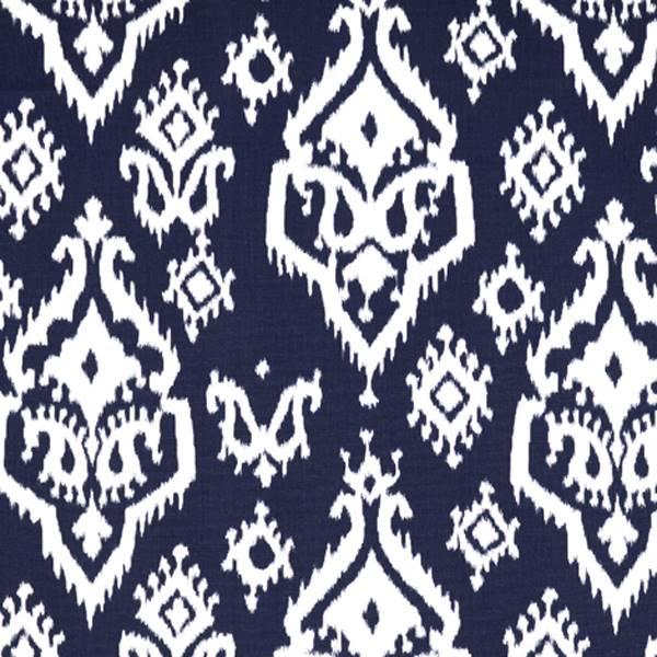 Raji Blue Ikat Print Drapery Fabic By Premier Prints 30