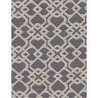 Montage Charcoal Gray Geometric Woven Upholstery Fabric