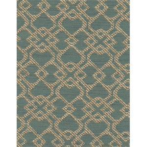 Montage Teal Green Woven Geometric Upholstery Fabric