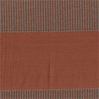 Tempe Fire Orange Horizontal Stripe Woven Upholstery Fabric Swatch