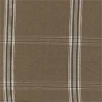 Dugey Coffee Brown Plaid Drapery Fabric