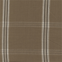 Dugey Coffee Brown Plaid Drapery Fabric Swatch