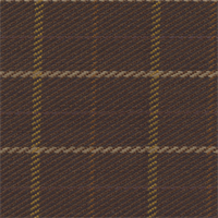 Ember Chocolate Brown Plaid Upholstery Fabric Swatch