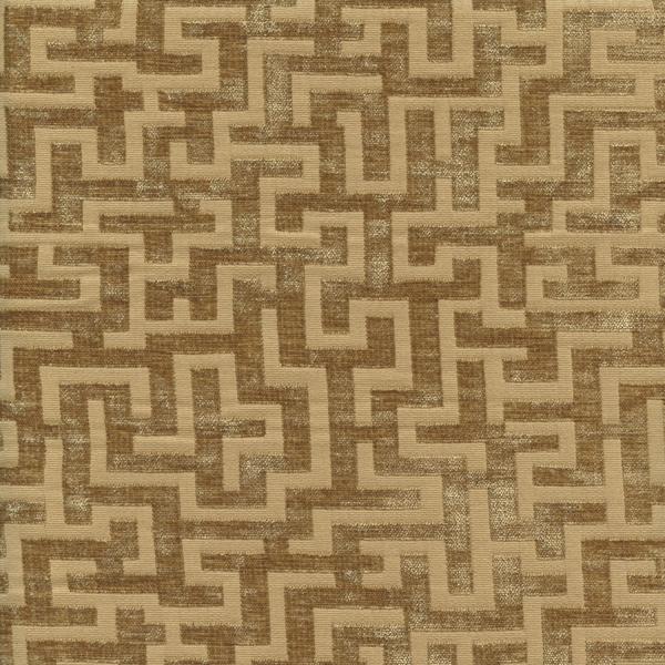 Recoleta Document Gold Greek Key Chenille Upholstery