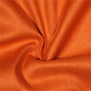 Mazo 11 Tangerine Orange Linen Blend Upholstery Fabric
