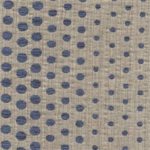 Phases Bottle Blue Woven Cotton Chenille Dot Upholstery Fabric