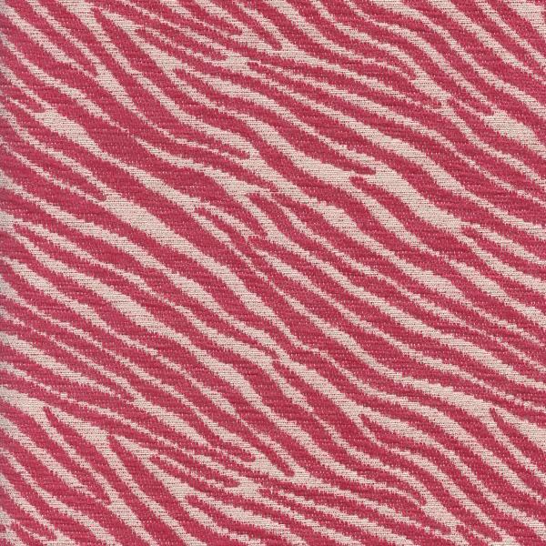 Zimbabwe Raspberry Pink Animal Print Chenille Upholstery