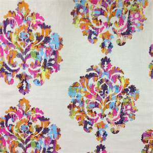 Wellington Rainbow Embroidered Drapery Fabric