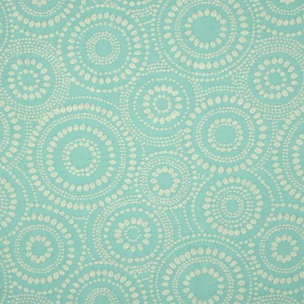 Mod pod celestial 400 blue dotted circle woven upholstery for Celestial fabric by the yard