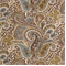 Paisley Chocolate Natural Cotton Drapery fabric by Premier Prints