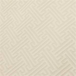Arta Warm White Greek Key Upholstery Fabric Swatch 50956 Swatch