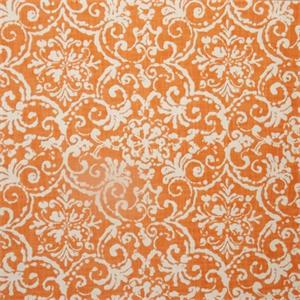 Print Affair Nectar Orange Floral Cotton Drapery Fabric By P