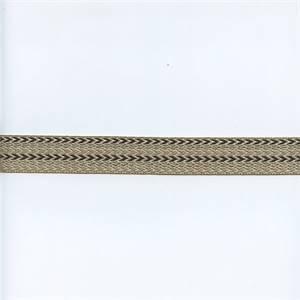 HT1692 Fog Grey Black Chevron Tape Trim