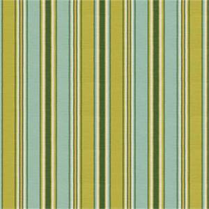 Tuffiff Sussex Sea Blue Green Cotton Stripe Drapery Fabric by Swavelle Mill