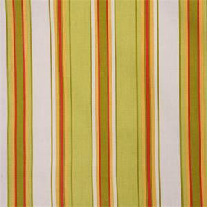 Becket Jasmine Green Cotton Stripe Drapery Fabric by Swavelle Mill