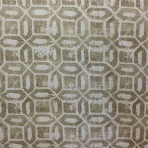 Daylesford Brompton Cloud Grey Geometric Cotton Drapery fabric by Swavell Mill