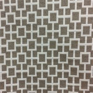 Fret Lattice Mocha Brown Woven Geometric Upholstery Fabric