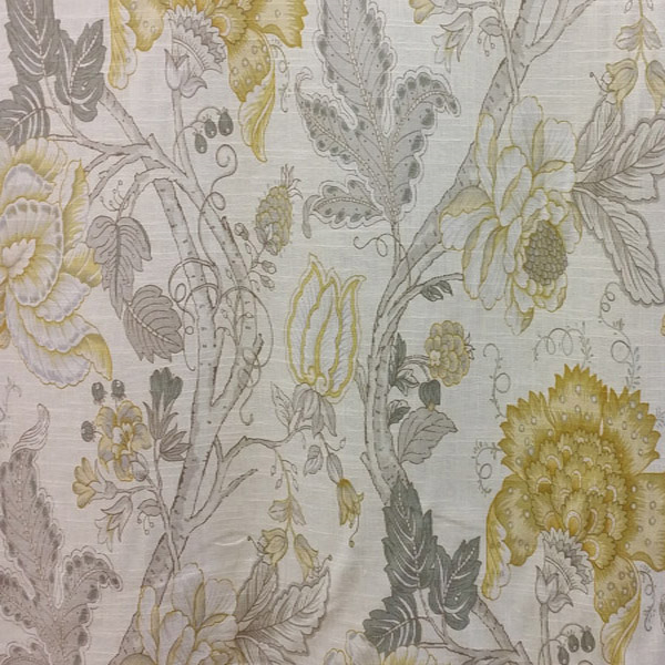 Maison Yellow Floral Drapery Fabric By Richloom