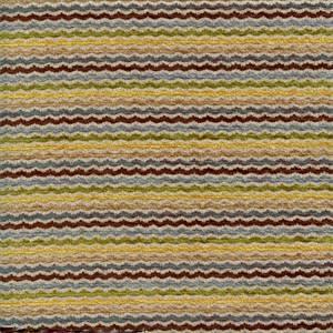 Tideline Caribbean Blue Green Horizontal Wave Chenille Stripe Upholstery Fabric