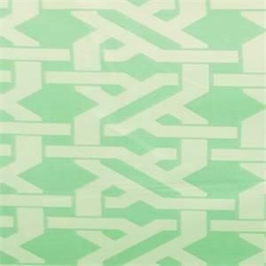Norris Paramount Aqua Blue Geometric Drapery Fabric By Swavelle